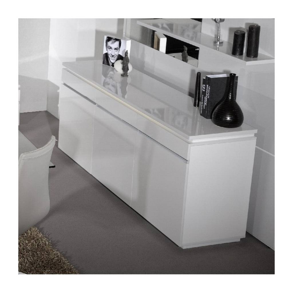 Sideboard Orde White High Gloss Sideboard With Lights Sideboards For 2018 Sideboards With Lights (View 3 of 15)