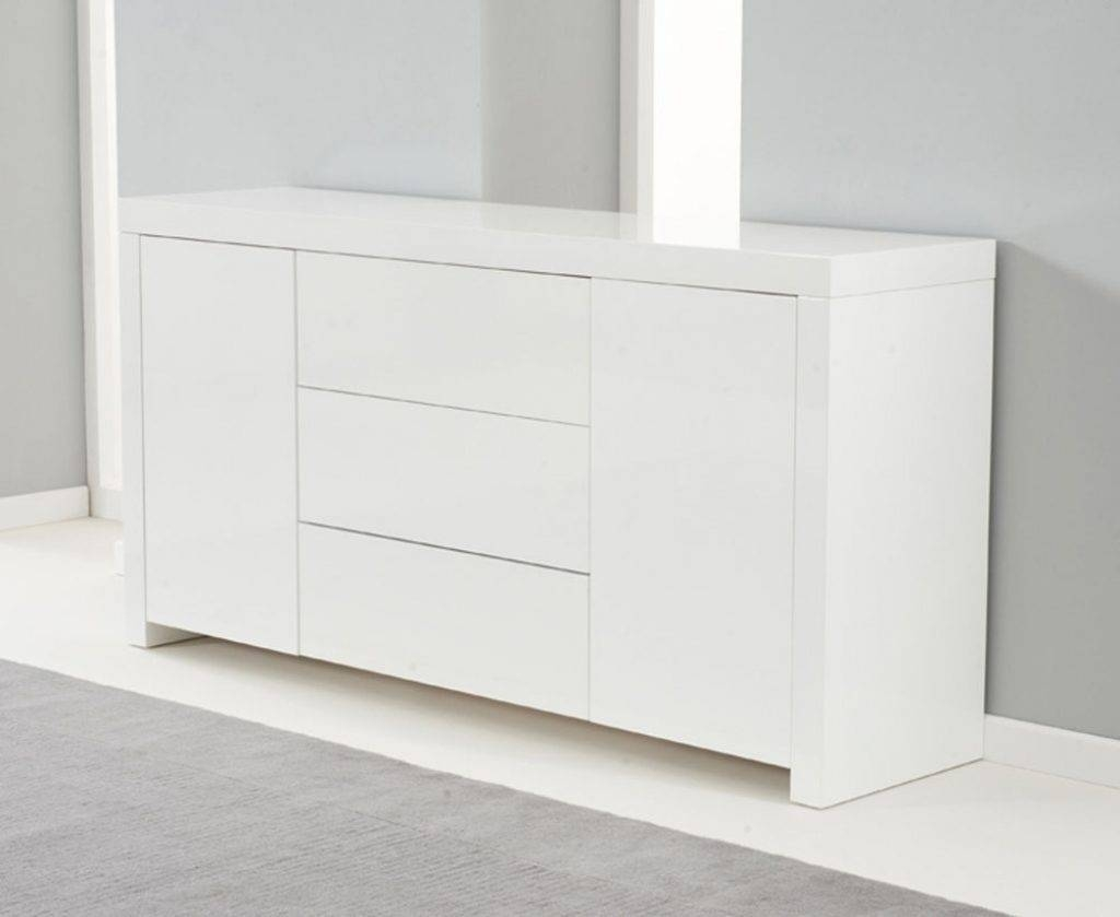 Sideboard Ornella White High Gloss Sideboard Within White High Regarding Most Up To Date Gloss Sideboards (#12 of 15)