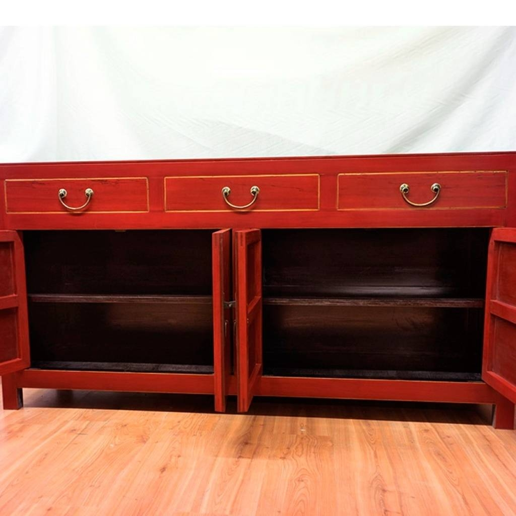Sideboard Red Sideboard Buffet Modern — New Decoration : Red In Most Up To Date Red Buffet Sideboards (#11 of 15)