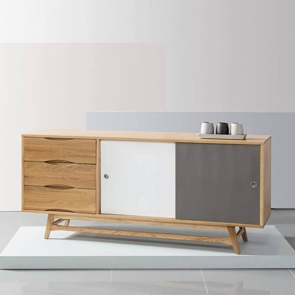 Sideboard Scandinavian Sideboards & Cabinets Modern Affordable With Best And Newest Scandinavian Sideboards (#14 of 15)
