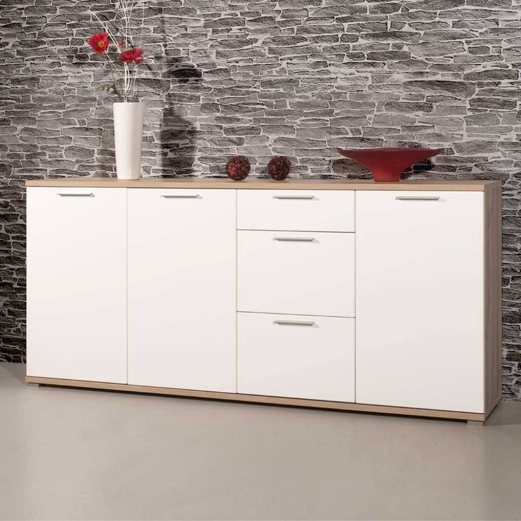 Sideboard Schlafzimmer Sideboard Dania In Weiß Hochglanz Buche Within 2017 Dania Sideboards (#12 of 15)