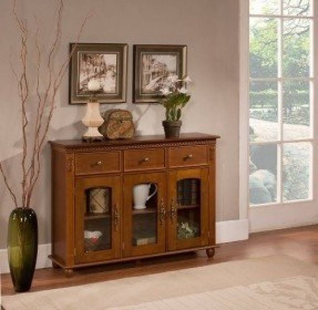 Sideboard Sideboards And Buffets With Glass Doors Foter Inside Within Latest Glass Buffet Table Sideboards (#9 of 15)
