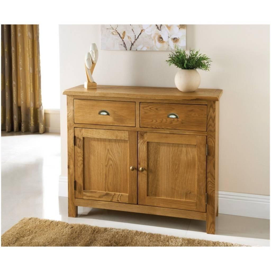 Sideboard Wiltshire 2 Door 2 Drawer Oak Sideboard   Furniture B&m Throughout Most Current Slim Oak Sideboards (#13 of 15)
