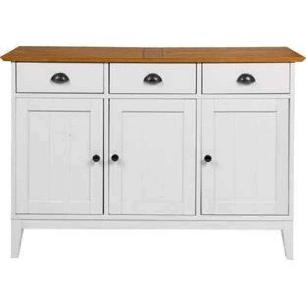 Sideboard Wiltshire 3 Door Sideboard Two Tone From Homebase.co (#15 of 15)