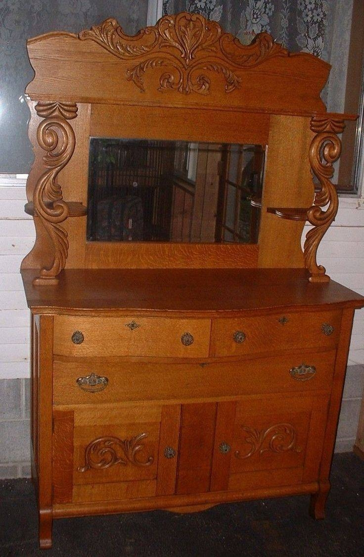 Sideboard With Mirror Oak Pertaining To Newest Antique Sideboards With Mirror (#11 of 15)