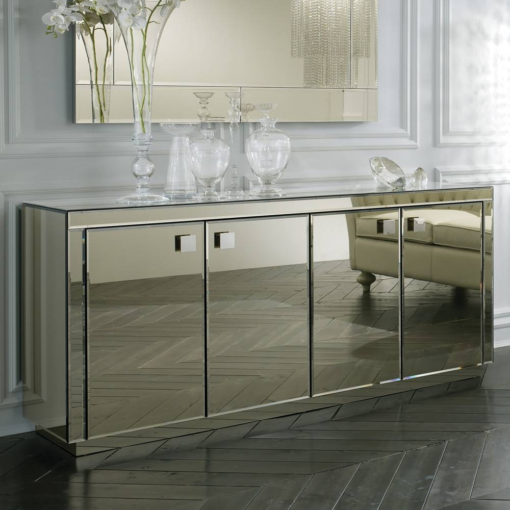 Inspiration About Sideboards. Amazing Mirrored Buffet: Mirrored Buffet  Mirrored Within Newest Mirrored Buffet Sideboards