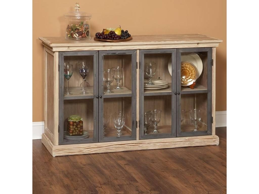 Buffet Cabinets With Glass Doors Glass Designs