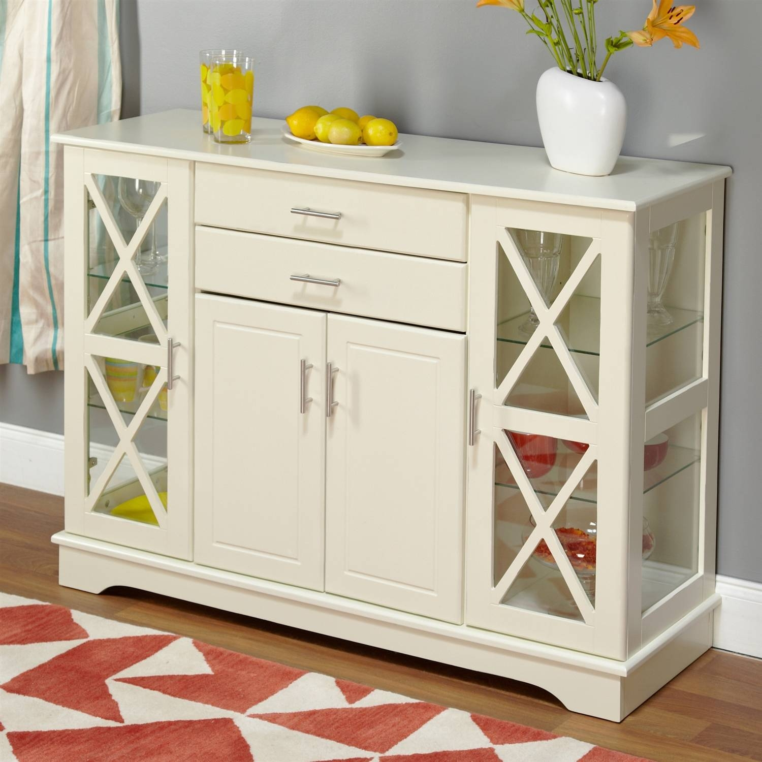Sideboards & Buffets Inside Most Up To Date Sideboards With Glass Doors And Drawers (#9 of 15)