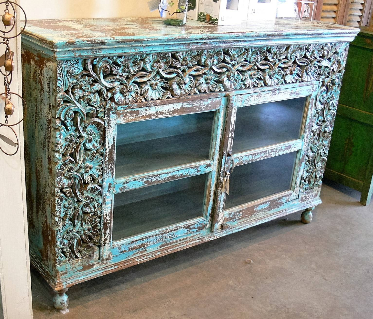 Sideboards & Buffets » Market Imports – Home, Patio, Antiques Within Latest Turquoise Sideboards (#7 of 15)