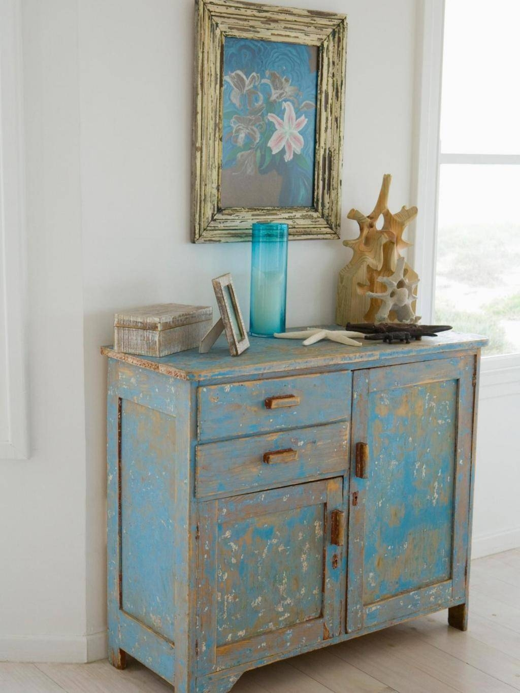 Sideboards: Extraordinary Distressed Wood Sideboard Whitewash Throughout Most Up To Date Blue Sideboards (#14 of 15)