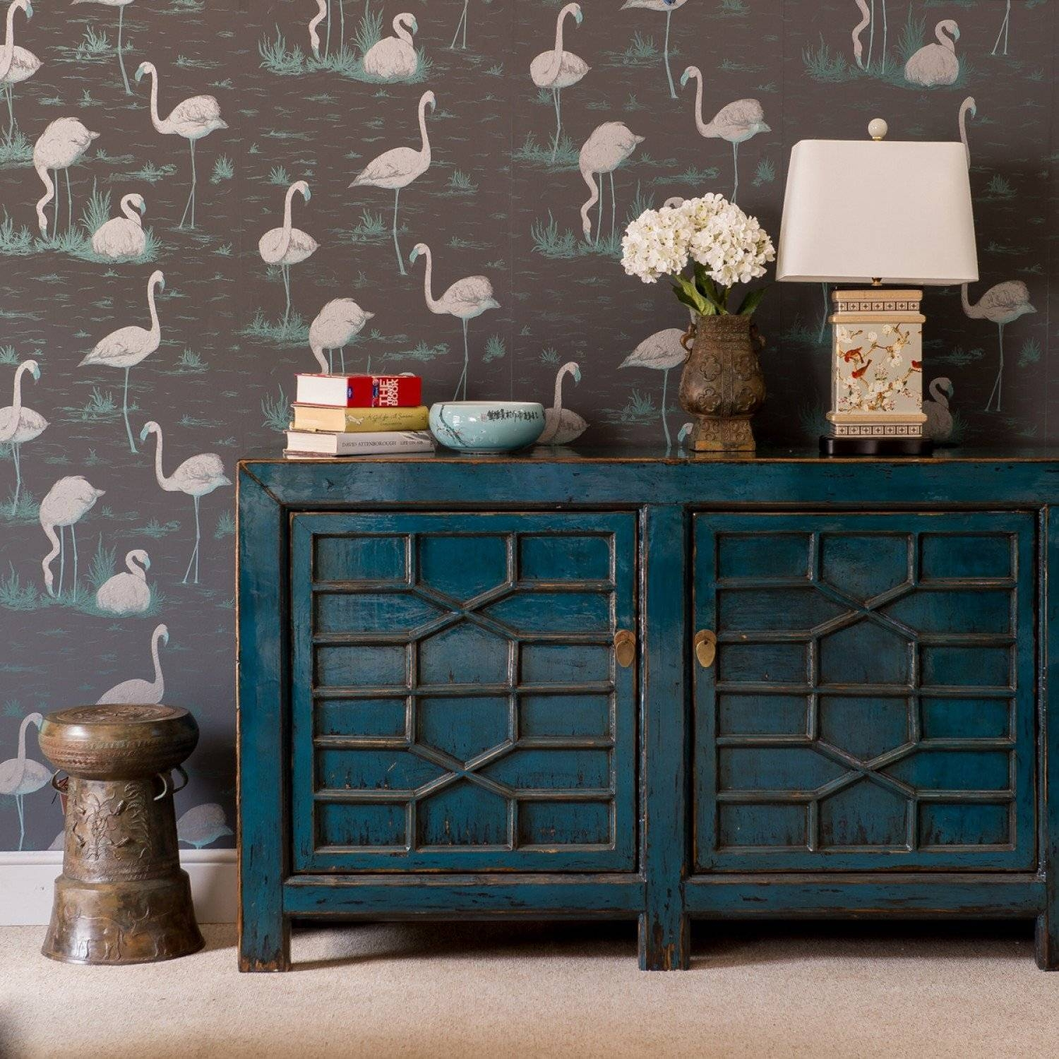 Sideboards: Inspiring Turquoise Sideboard Navy Blue Buffet, Blue Regarding Most Current Blue Sideboards (#15 of 15)