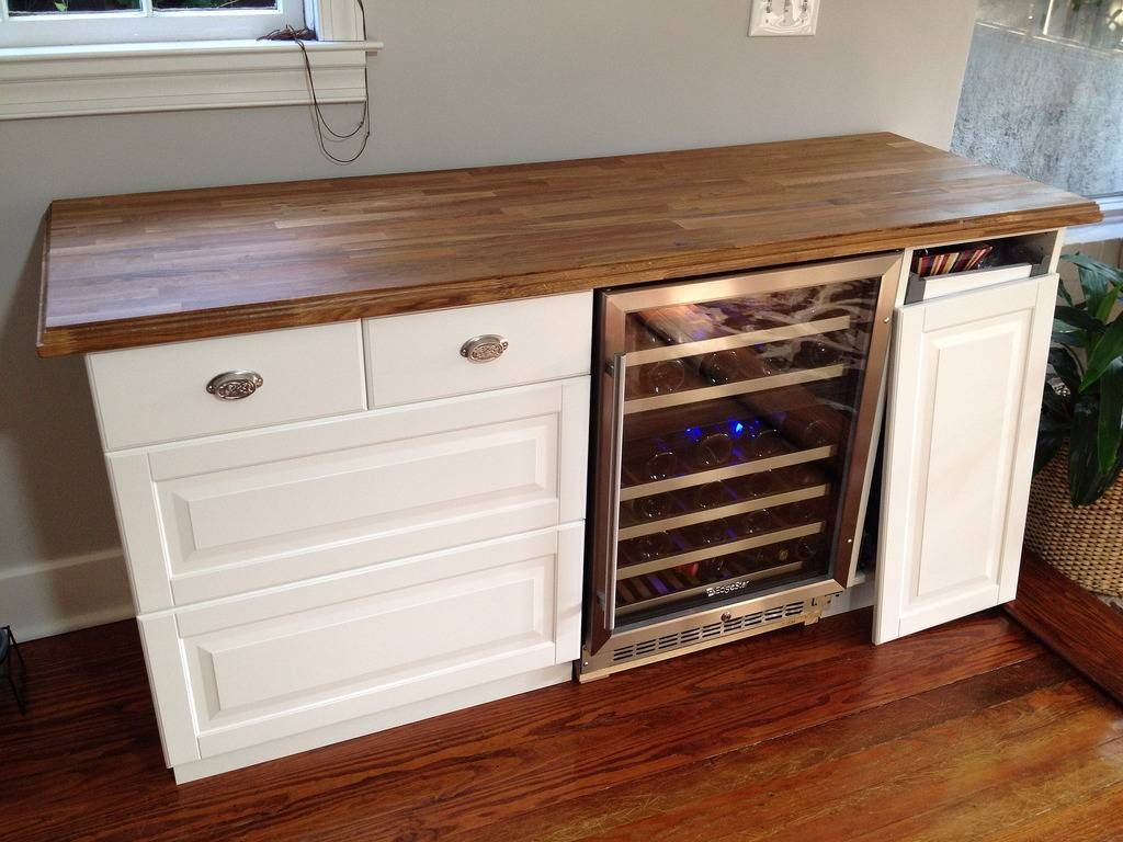 Sideboards: Marvellous Wine Buffet Cabinet Buffet With Wine Rack Regarding Most Popular Bar Sideboards (#14 of 15)