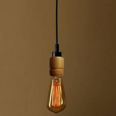 Simple 1 Light Edison Bulb Led Pendant Lighting – Beautifulhalo Inside Latest Edison Bulb Pendant Lights (View 8 of 15)