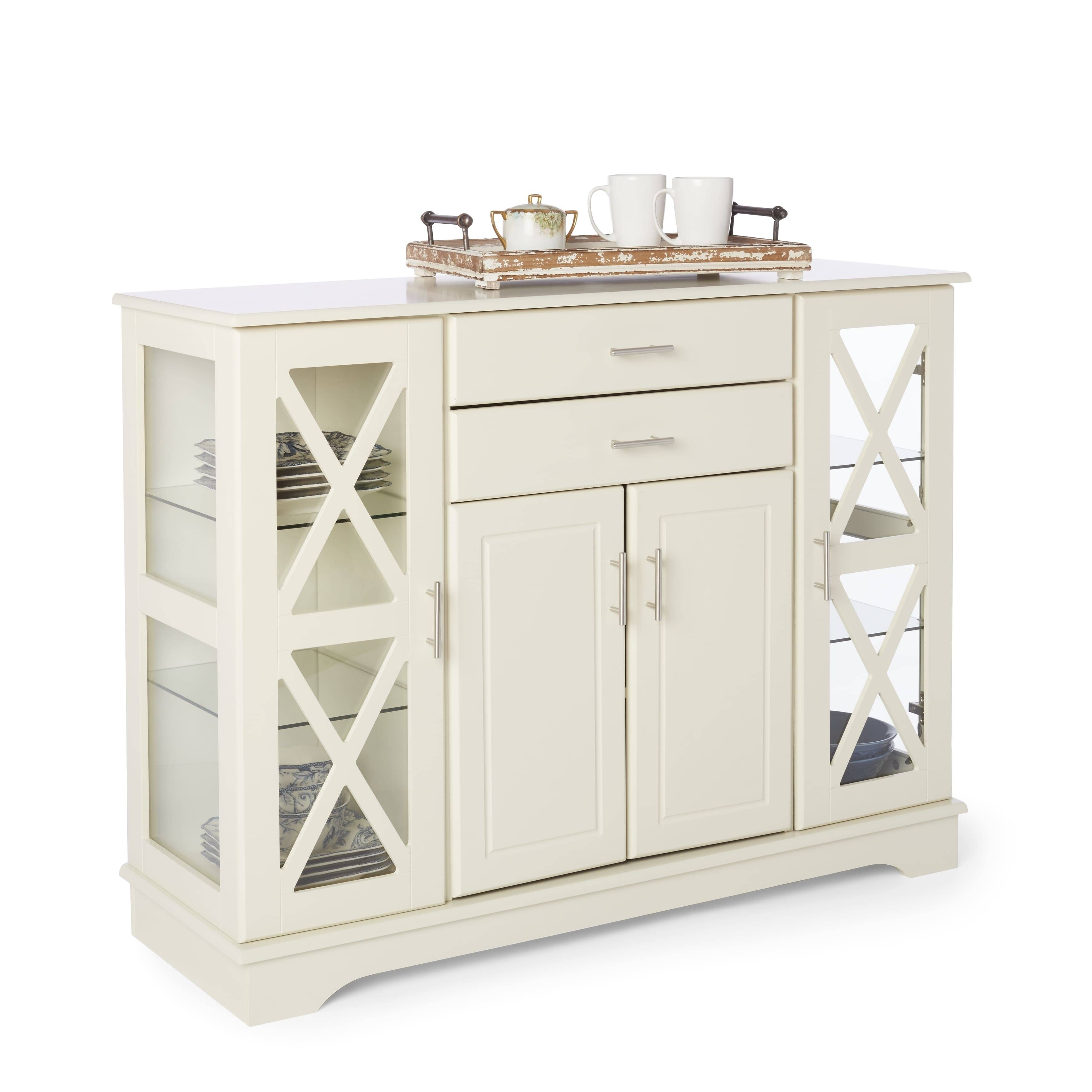 Simple Living Antique White Kendall Buffet – Free Shipping Today Intended For Most Up To Date Antique White Sideboards (#14 of 15)