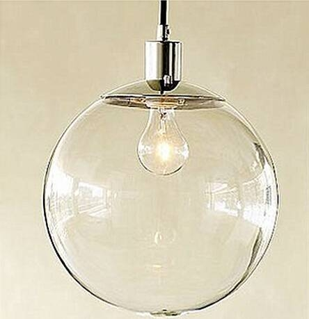 Simple Retro Modern Pendant Lights With White Glass Ball Lamp Inside Most Up To Date Glass Ball Pendant Lights (#14 of 15)
