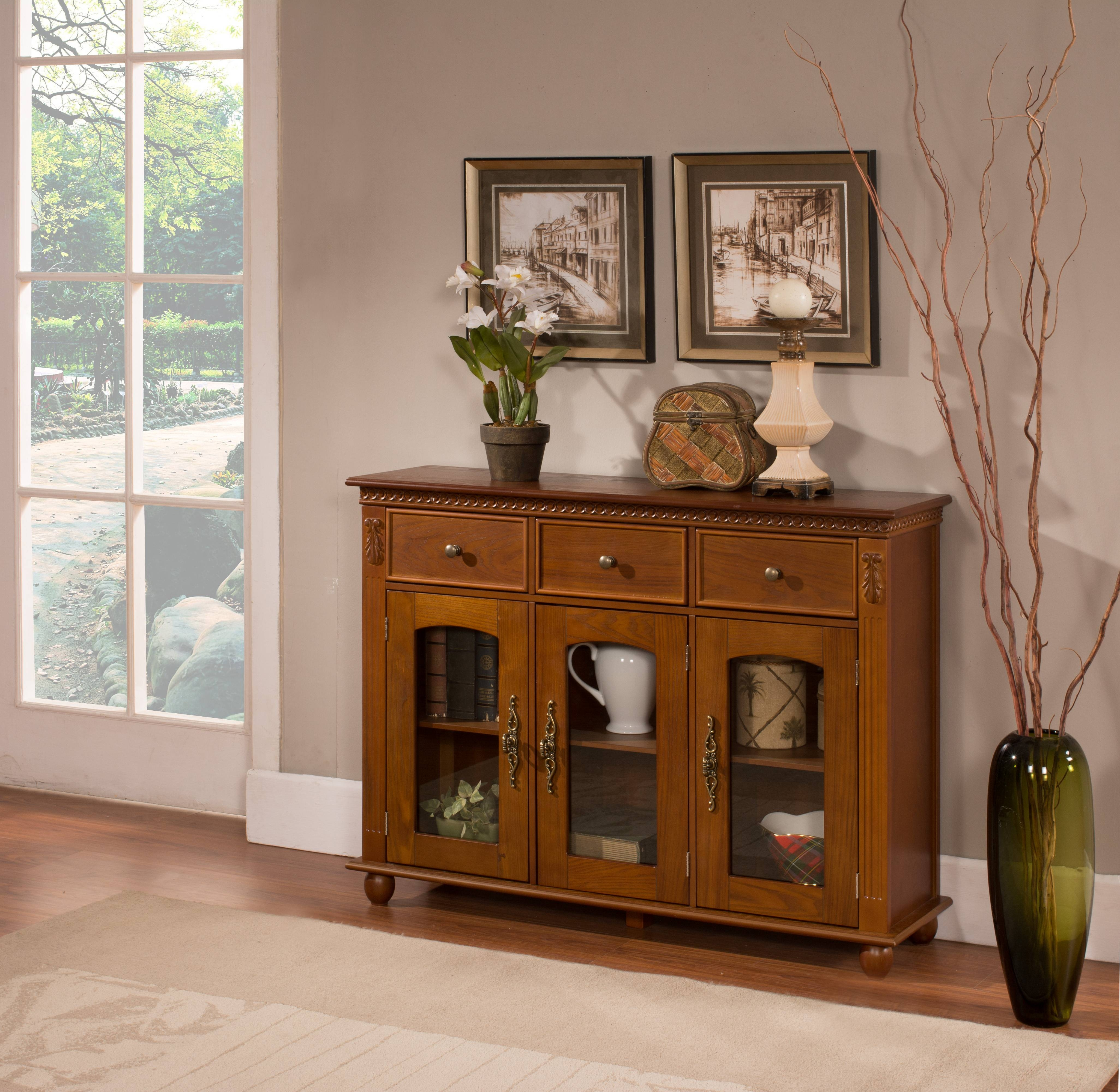 Inspiration About Small Buffet Hutch White Sideboard Cabinet Dining Buffet  Table Pertaining To Recent Small Narrow