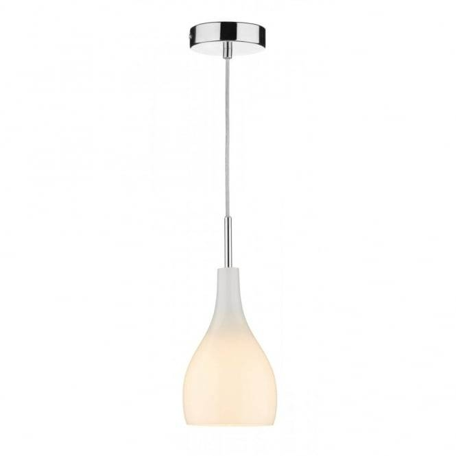 Soho Single Opal White Glass Mini Pendant Light On Clear Cable For Latest White Mini Pendant Lights (#13 of 15)