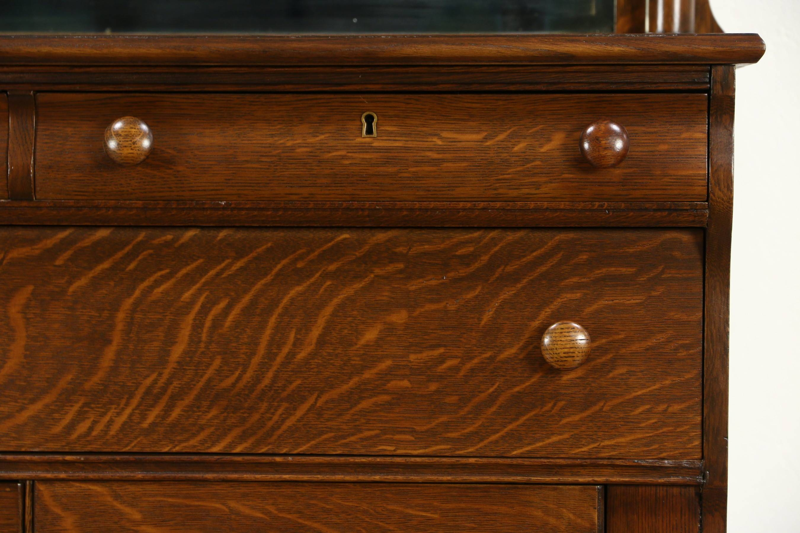 Sold – Empire 1910 Antique Oak Sideboard, Server Or Buffet, Lion Regarding Most Up To Date Antique Oak Sideboards (#10 of 15)