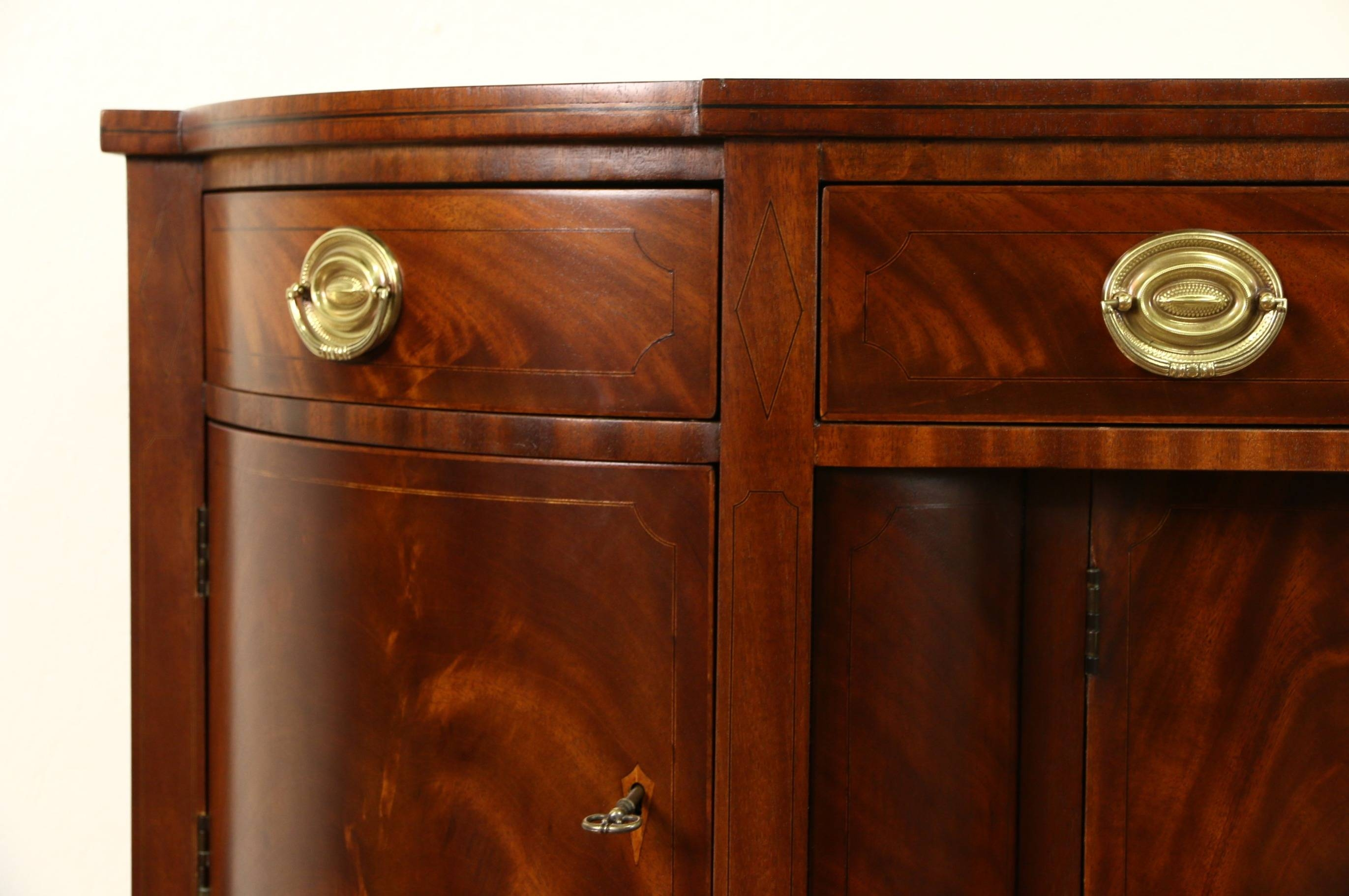 Sold – Henredon Natchez Collection Vintage Mahogany Sideboard Pertaining To Recent Antique Sideboards And Buffets (#13 of 15)