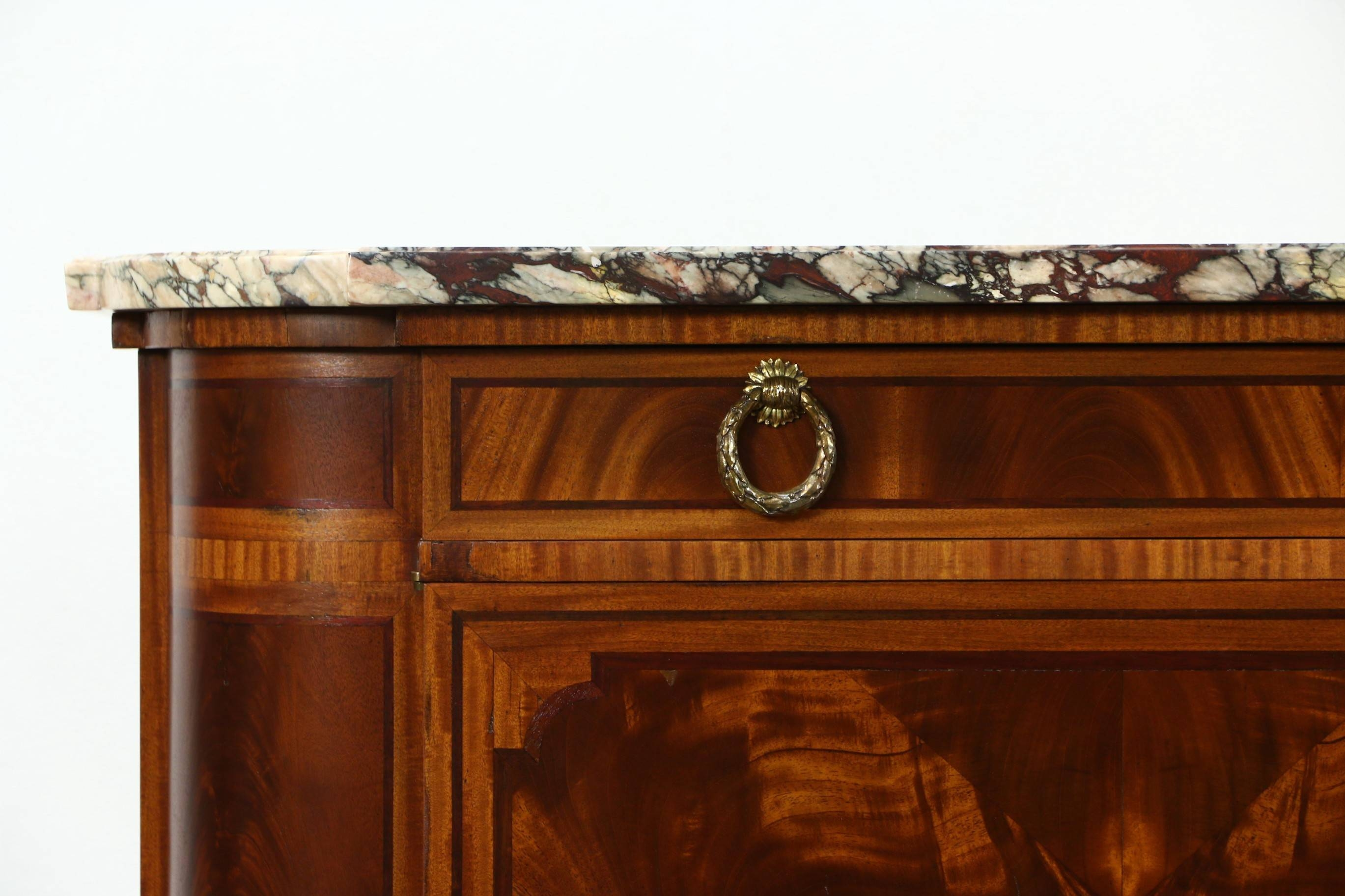 Sold – Marble Top Paris France Signed 1930 Vintage Sideboard Intended For Most Recently Released Antique Marble Top Sideboards (#13 of 15)