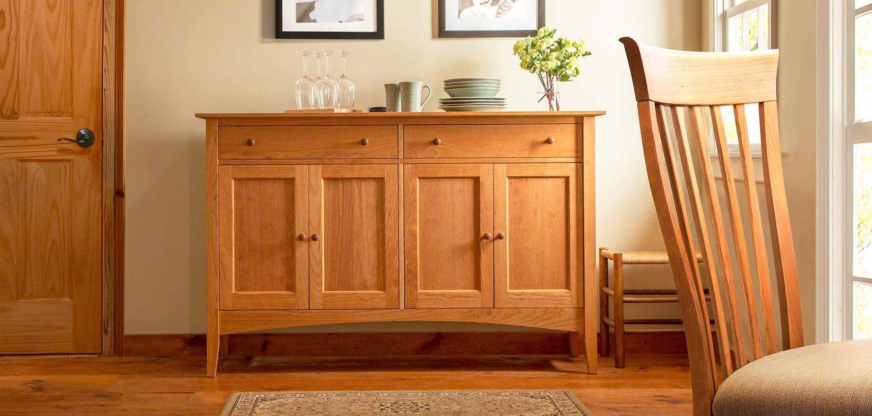 Solid Wood Sideboards, Buffets, & Hutches – Vermont Woods Studios With Current Solid Wood Sideboards (#15 of 15)