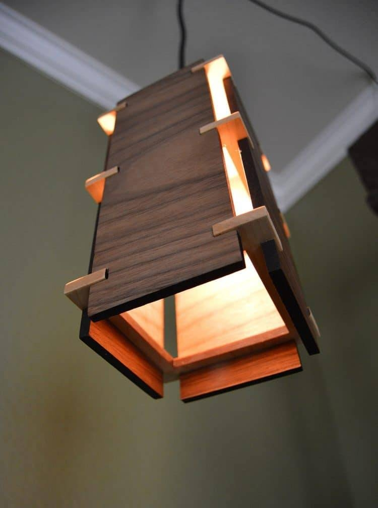 Square Wooden Pendant Light | Id Lights Within Newest Wooden Pendant Lighting (#14 of 15)