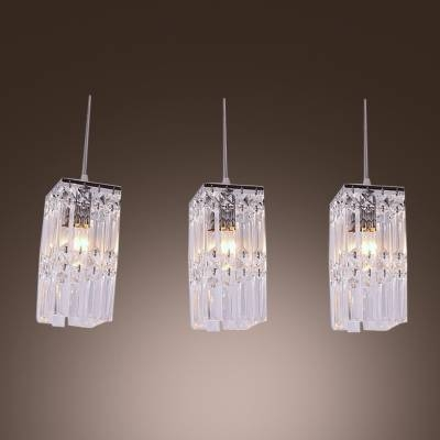 Stunning Rectangular Pendant Light Features Three Lights With Intended For Newest Rectangular Pendant Lights (#15 of 15)