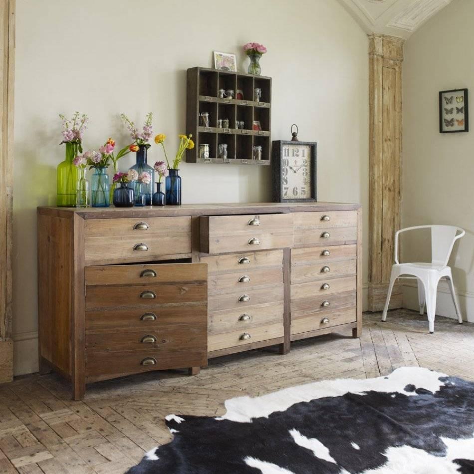Three Door Larkin Pine Sideboard   Sideboards & Cabinets   Graham With 2017 Green Sideboards (#15 of 15)