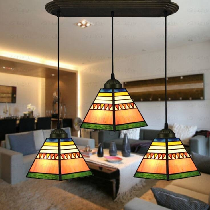 Three Light Tiffany Style Dinning Room Pendant Lighting With Most Current Tiffany Style Pendant Light Fixtures (#14 of 15)