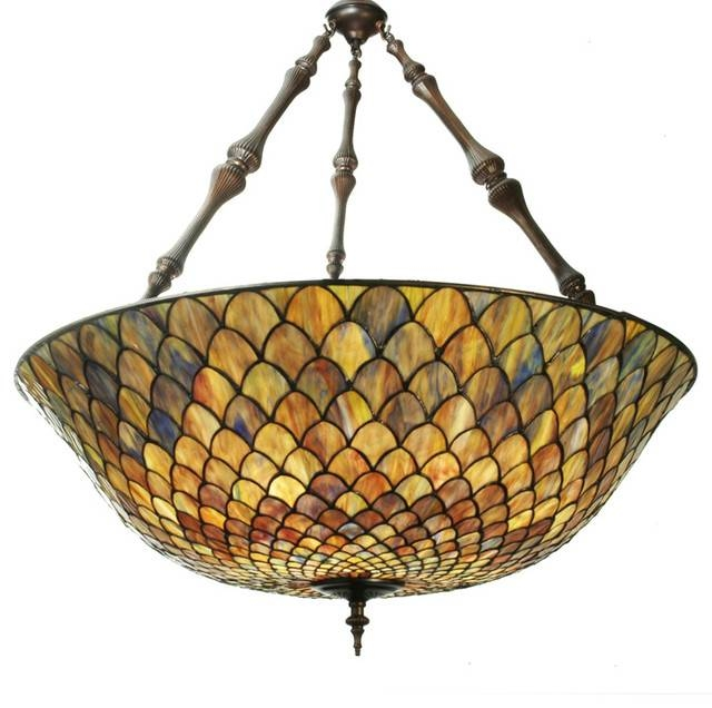 Tiffany Pendant Lighting | The Aquaria With Most Recently Released Inverted Pendant Lighting (#14 of 15)
