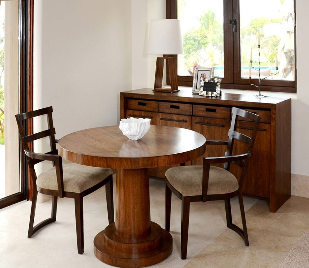 Transitional Dining Tables Dining Room Traditional With Arm Chairs Inside Most Popular Dining Room Table Chairs And Sideboards (#15 of 15)