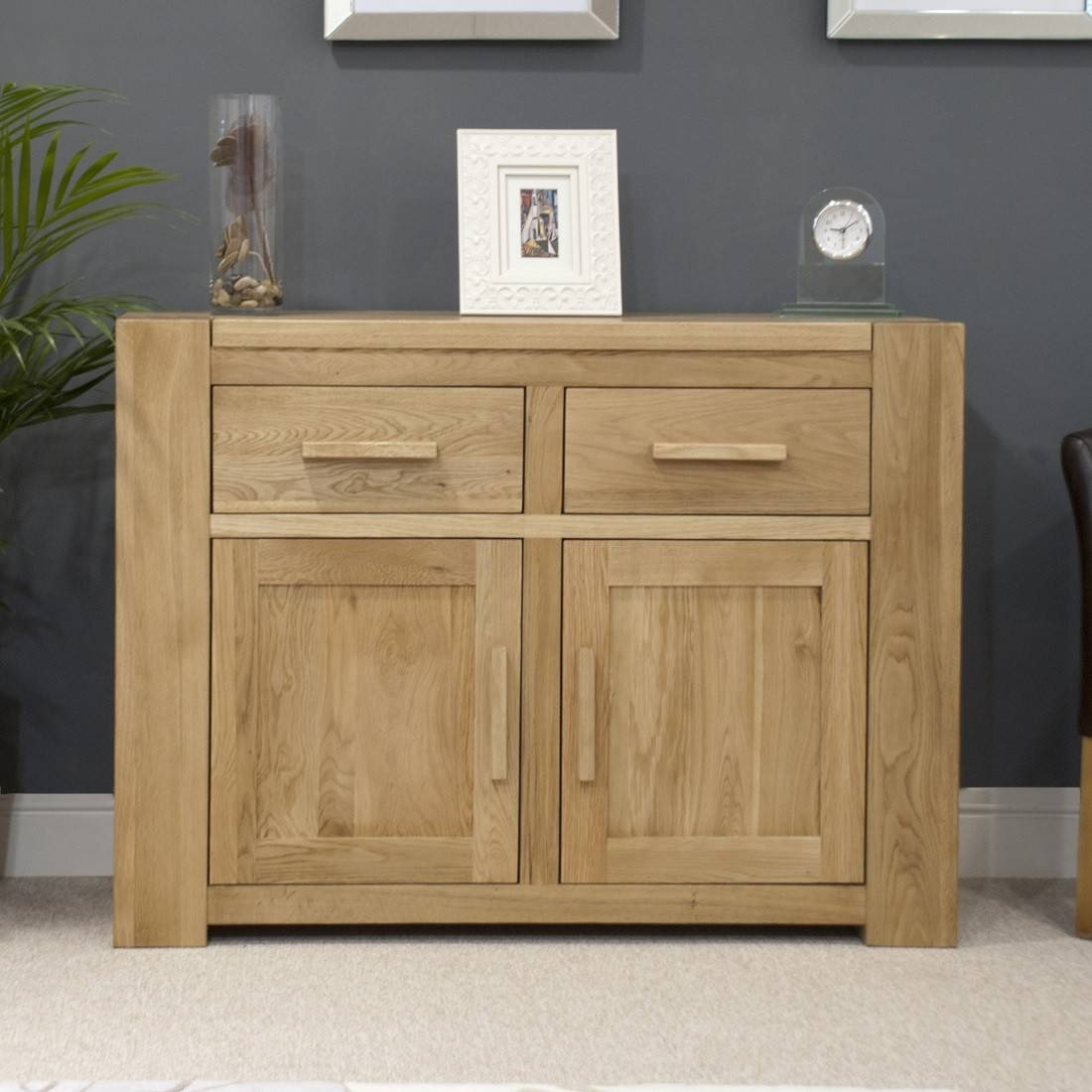 Trend Solid Oak Small 2 Door Sideboard | Oak Furniture Uk Within Most Up To Date Small Oak Sideboards (#15 of 15)