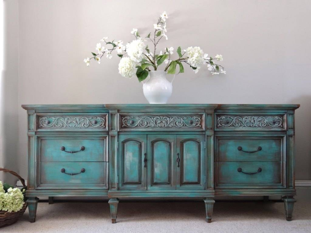 Turquoise Sideboard Interior Design — Rocket Uncle Rocket Uncle With Regard To 2018 Turquoise Sideboards (#14 of 15)