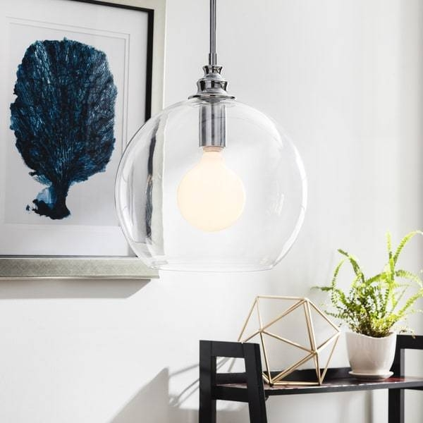 Uptown Clear Globe 1 Light Chrome Pendant – Free Shipping Today With Regard To Most Recent Clear Globe Pendant Lights (#15 of 15)