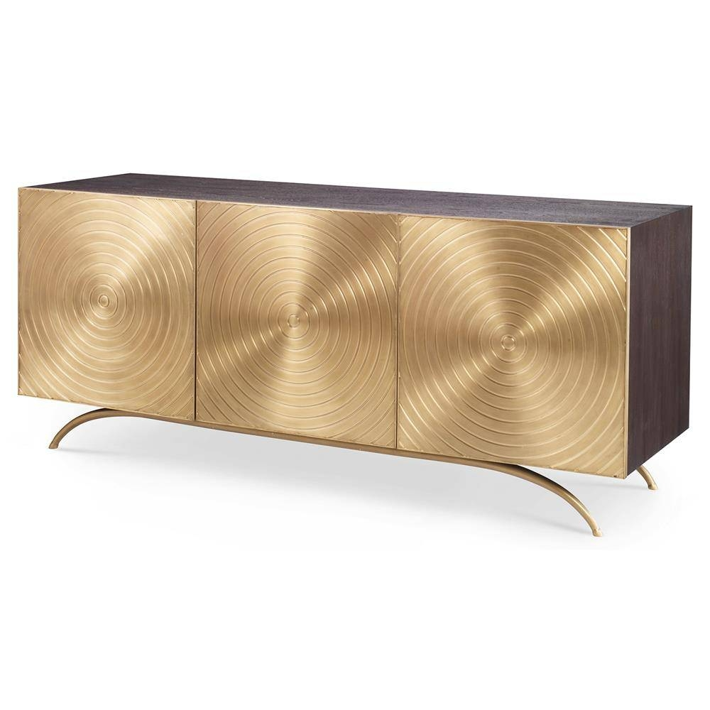 Inspiration about Val Modern Regency Gold Sideboard Cabinet | Kathy Kuo Home Pertaining To Most Current Gold Sideboards (#4 of 15)