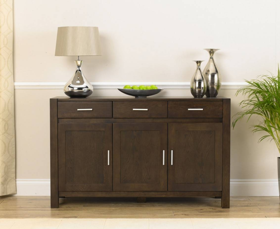 Inspiration about Verona 140Cm Dark Oak Sideboard | The Great Furniture Trading Company With 2018 Dark Oak Sideboards (#6 of 15)