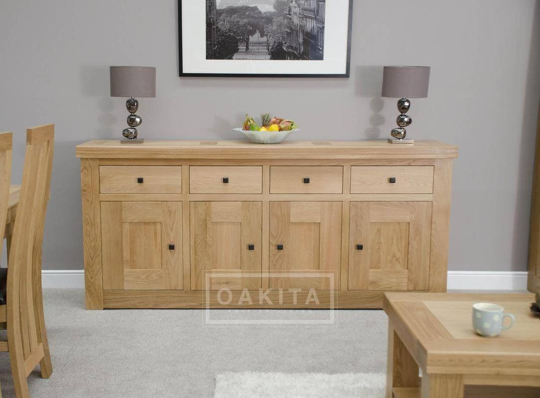 Inspiration about Vienna Extra Large Light Oak Sideboard – Oak Sideboards – Oak Intended For Latest Extra Large Oak Sideboards (#5 of 15)