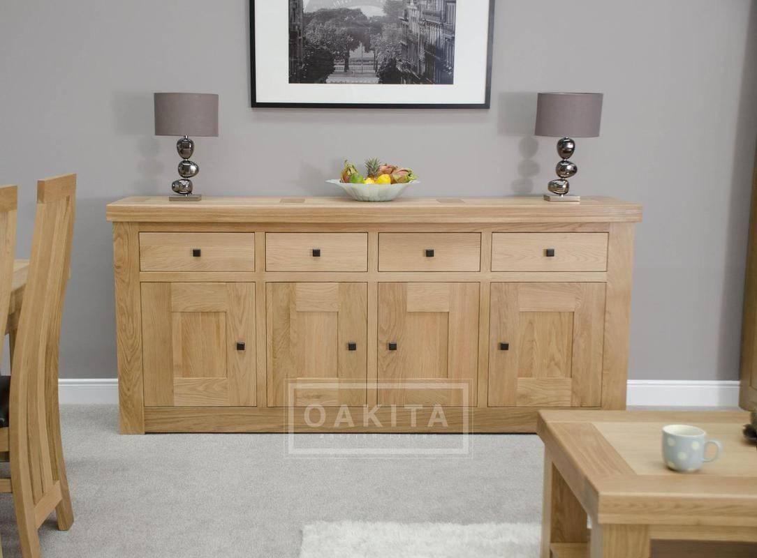 Inspiration about Vienna Extra Large Light Oak Sideboard – Oak Sideboards – Oak Pertaining To 2018 Oak Furniture Sideboards (#10 of 15)