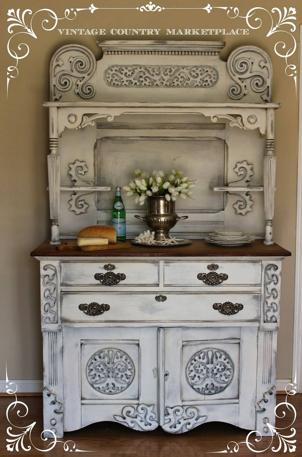 Inspiration about Vintage Country Style: European Sideboard Make Over Annie Sloan Pertaining To Most Popular Chalk Painted Sideboards (#7 of 15)