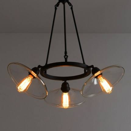 Vintage Edison Pendant Light Loft Clear Glass Pendant Lights 3 Throughout Newest Glass Pendant Lights With Edison Bulbs (#13 of 15)