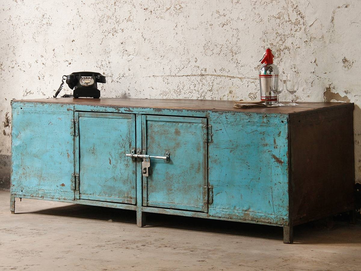 Vintage Industrial Sideboard : Creates The Perfect Recipe For Pertaining To Most Popular Industrial Sideboards (View 14 of 15)