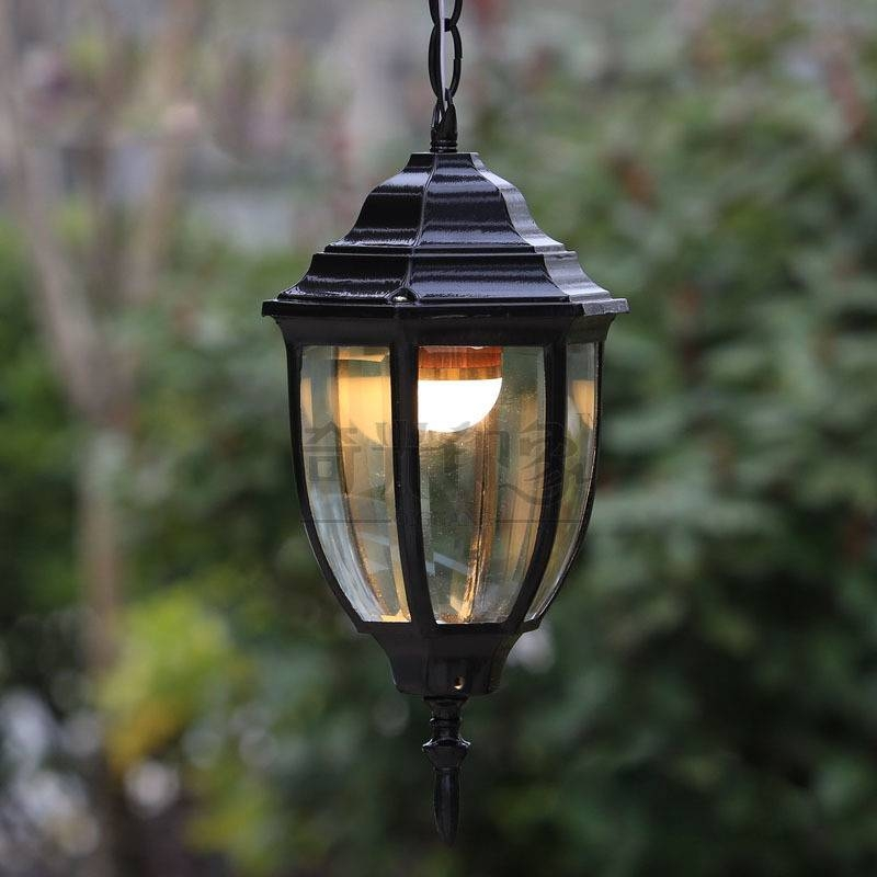 Inspiration about Vintage Outdoor Pendant Lights Courtyard Corridor Hanging Lighting With Most Recent Outside Pendant Lights (#11 of 15)