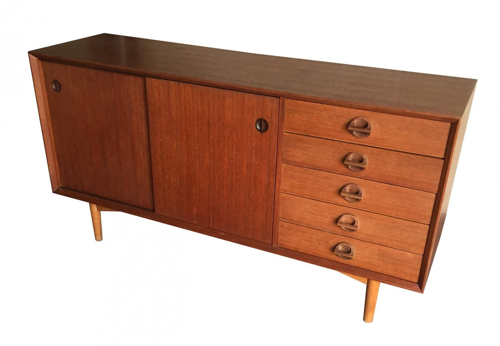 Vintage Sideboard With Sliding Doors, 1960S For Sale At Pamono With Regard To Most Recently Released Vintage Sideboards (#12 of 15)
