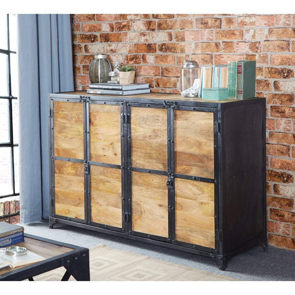 Vintage Up Cycled Industrial Large Sideboard Pertaining To Most Recently Released Industrial Sideboards (#15 of 15)