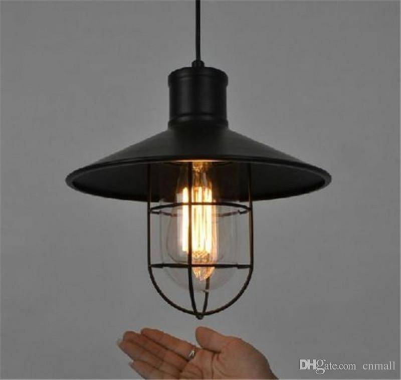 Vintage Wrought Iron Pendant Lighting Chandeliers Edison Bulb Intended For Latest Edison Bulb Pendant Lights (#14 of 15)