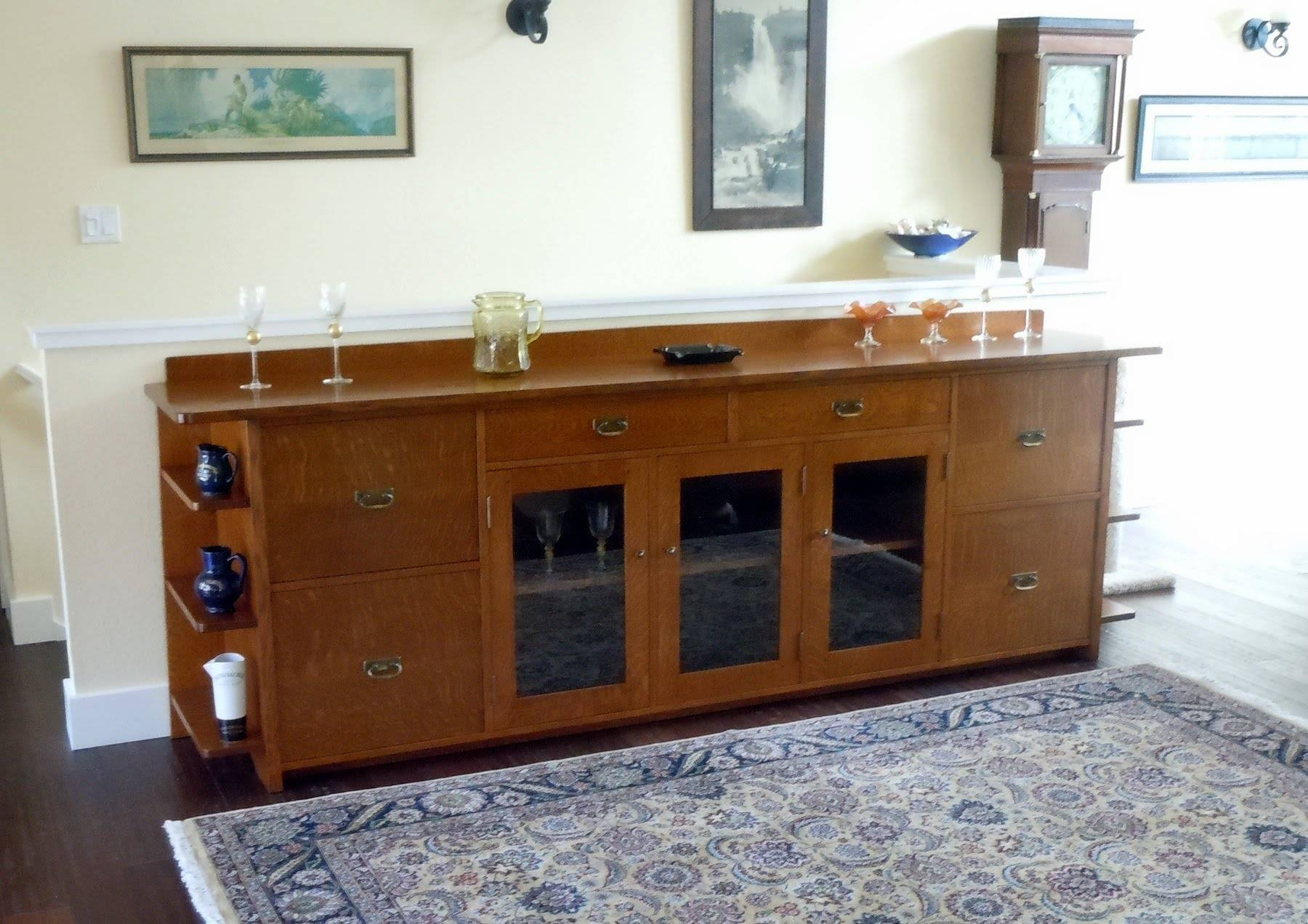 Inspiration about Voorhees Craftsman Mission Oak Furniture – Custom 9 Foot Long Arts Intended For Most Popular Sideboard Cabinets (#4 of 15)