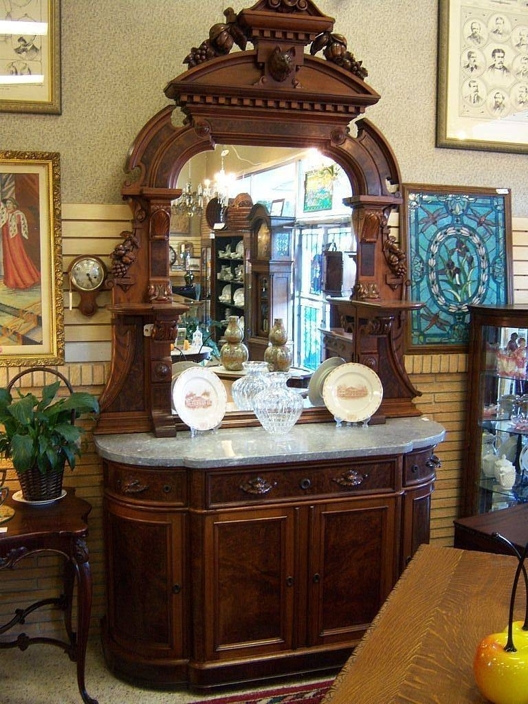 Walnut Sideboard, Victorian Renaissance Revival, Marble Top Carved Regarding 2017 Antique Marble Top Sideboards (#15 of 15)