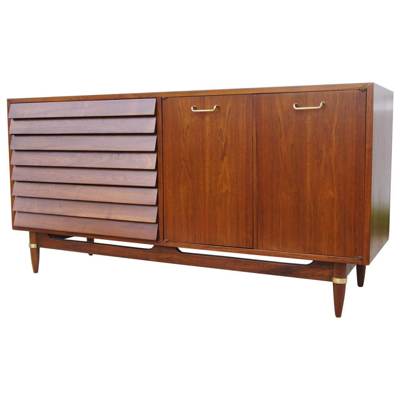 Walnut Sideboardmerton Gershun For American Of Martinsville Within 2017 Walnut Sideboards (#14 of 15)