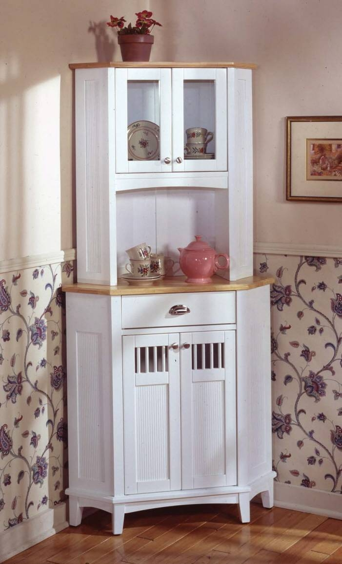 White Kitchen Hutch Cabinet Exciting 23 Sideboards Outstanding Regarding Most Popular Kitchen Hutch And Sideboards (#15 of 15)