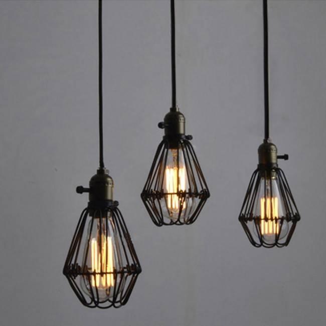 Winsoon Metal Pendant Light Shade Vintage Industrial Chandelier Inside Latest Pendant Light Shades (#15 of 15)